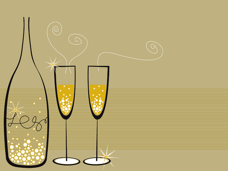 champagne bubbles celebration Vector