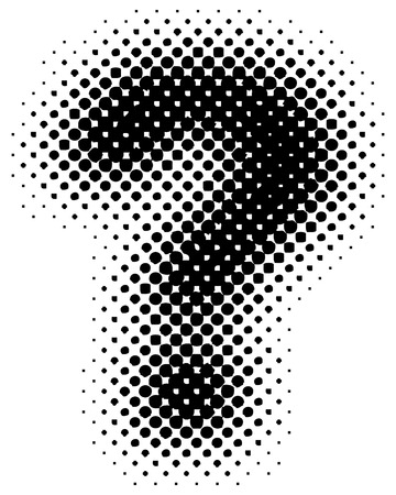halftone sign  symbol - part of a full alphabet set Illustration