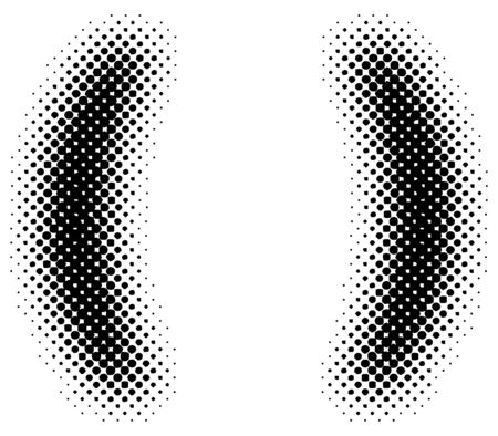 halftone sign  symbol - part of a full alphabet set Vector