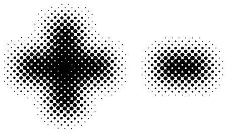 halftone sign  symbol - part of a full alphabet set Vector