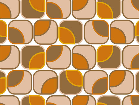 retro orange chocolate squares Illustration