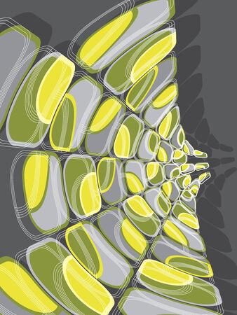 retro disco: retro disco verde y amarillo se tuercen