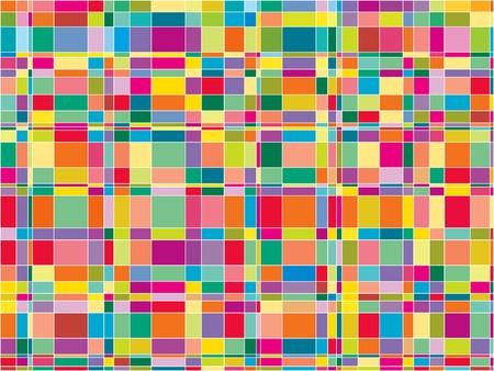 vibrant colors fun: Mosaico a colori a matrice piazze (vector)