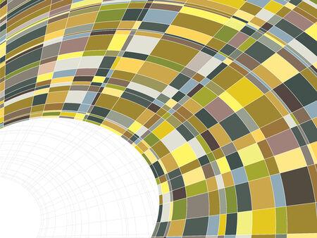 mosaic matrix squares warp (vector) Vector