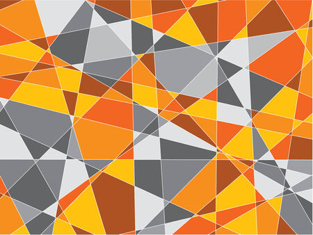orange and gray fragments background Stock Vector - 2586014
