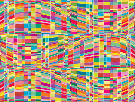 mosaic color matrix op art (vector) Illustration
