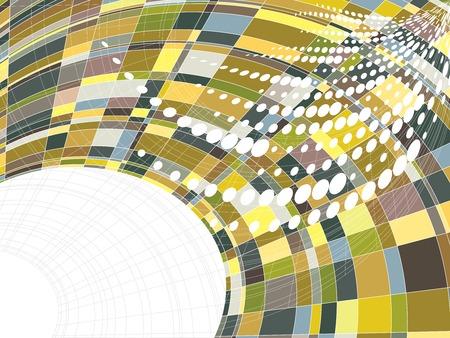 mosaic matrix squares warp dots (vector) Vector
