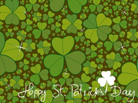 saint patrick clover leaves background (vector) Vector