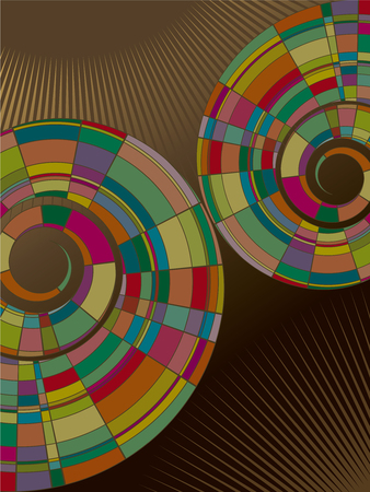 colorful mosaic abstract spiral (vector) Vector
