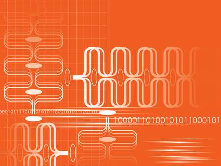 orange abstract graphic movement (vector) Vector