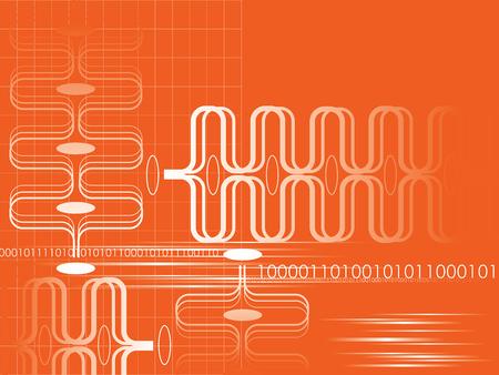 Orange r�sum� graphique mouvement (vecteur)  Illustration