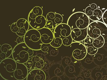 ornamental curly vine pattern (vector)