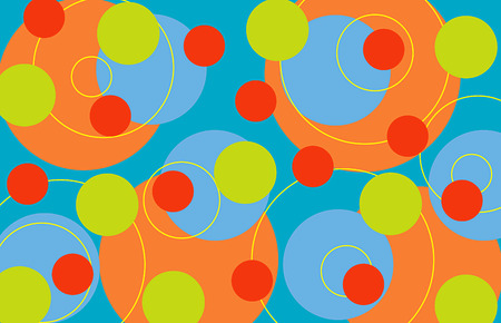 fruity: retro rings fruity (vector) - illustrated background Illustration