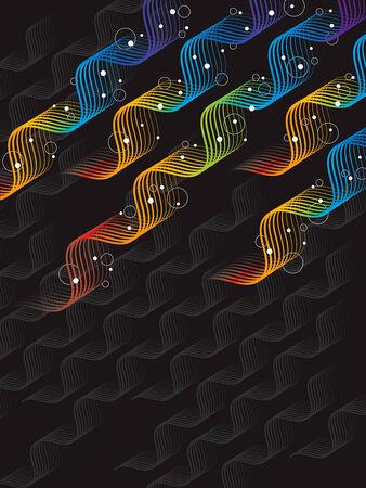 arcobaleno astratto: Astratta arcobaleno astratto torsione e bollicine (vector)  Vettoriali