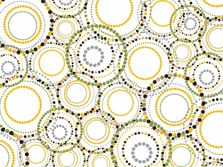 retro fun dotted circles pattern - illustration Illustration