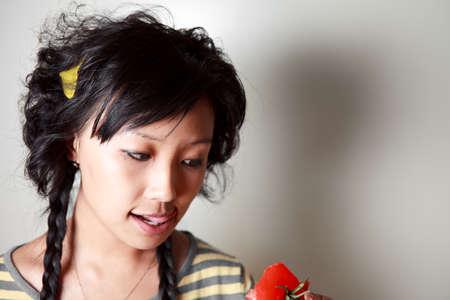 Close up shoot, Asian young woman