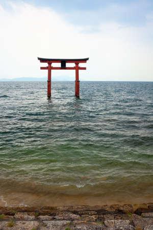 eacute: Giapponese Gate, Temple Gate sul lago Biwa