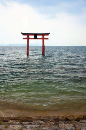 eacute: Japanese Gate, Temple Gate on the Lake Biwa