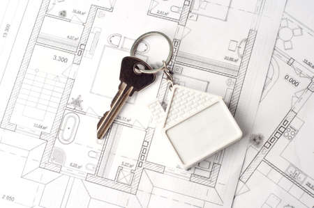 lodger: House key on a paper plan