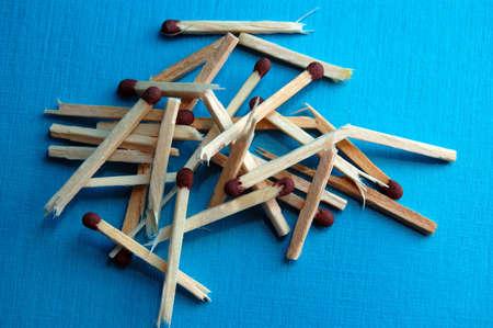 Broken matches Stock Photo
