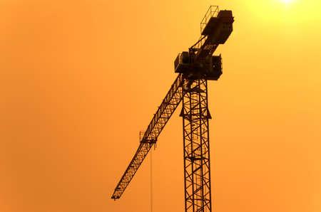 erect: Crane & sundown