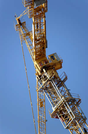 Lifting crane building the house Stock Photo