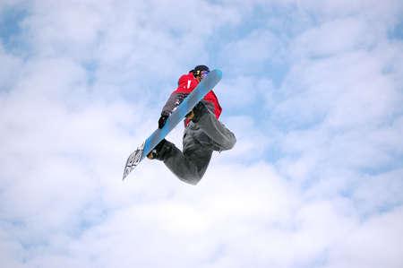 snowboarder twist jumping
