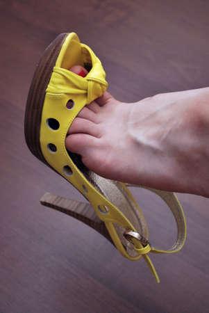 Sexy yellow shoe