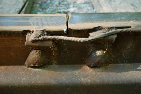 Bonding rails Stock Photo