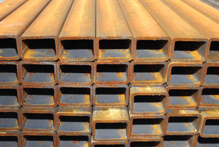 Steel rectangle pipes Stock Photo - 3323965