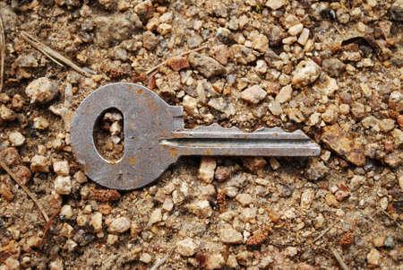 Key on the sand