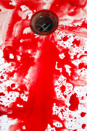 spl: Abstract blood on the bath Stock Photo