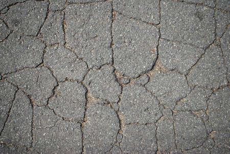 cranny: Old asphalt Stock Photo