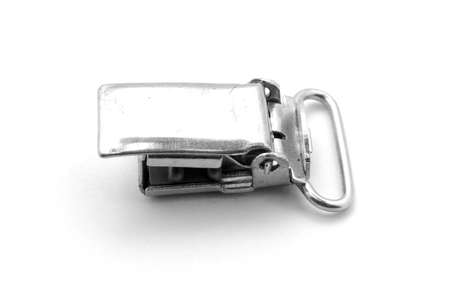 clasp: Old buckle on white background
