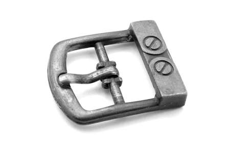 Old buckle on white background