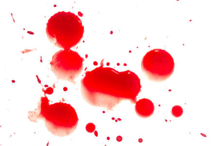 spl: Abstract blood on white background