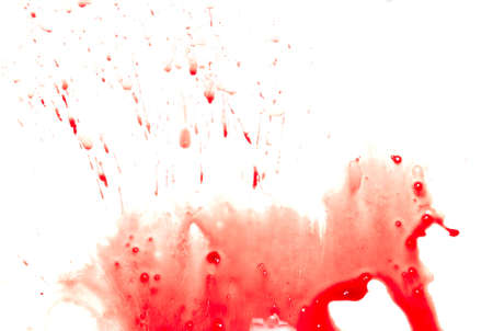 Abstract blood on white background Stock Photo - 4032290
