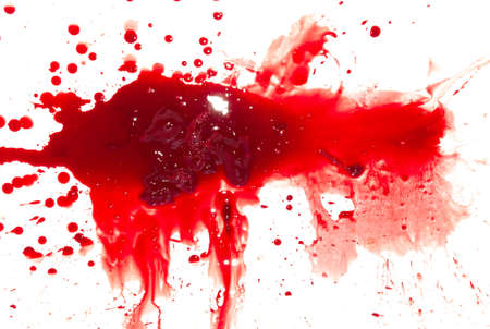 blood draw: Abstract blood on white background