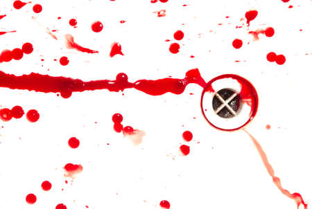 Abstract blood on white background