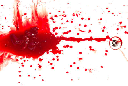 Abstract blood on white background Stock Photo - 4032284