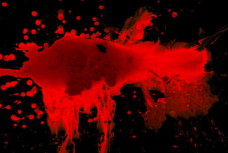 Abstract blood on black background Stock Photo - 4032291