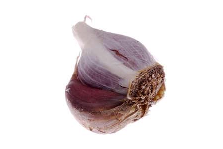 alliaceae: Close up of garlic bulb, isolated on white background