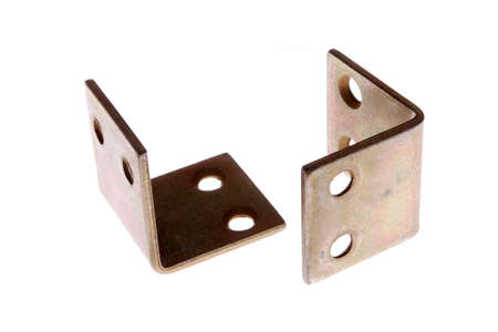 A pair of corner brackets isolated on white
