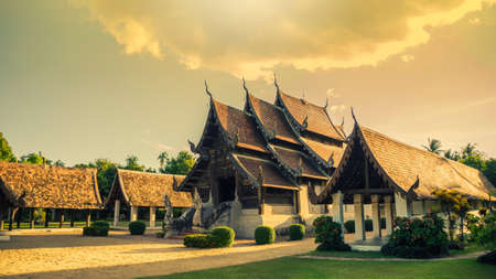 ton: Wat Ton Kain is old and beautiful temple in Chiang Mai , Thailand Stock Photo