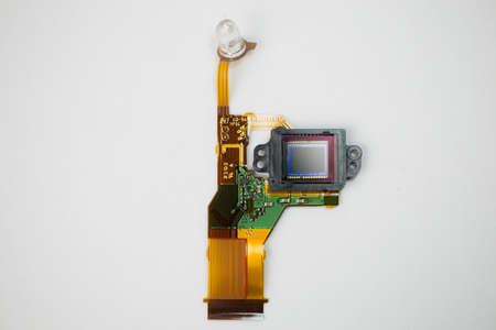 sensor: Camera Sensor on a white background Stock Photo