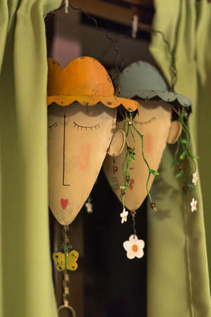 crafted: Beautifully crafted hanging faces