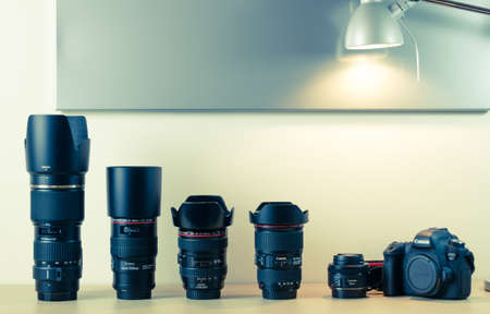 eos: Photography equipment - Canon EOS 6d and lenses