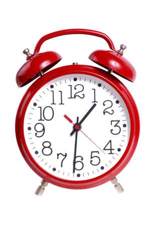 alarm clock: Alarm Clock Isolated Stock Photo