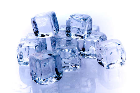 Ice cubes background texture