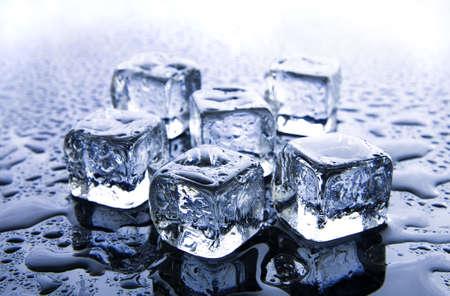 Smelten ijsblokjes